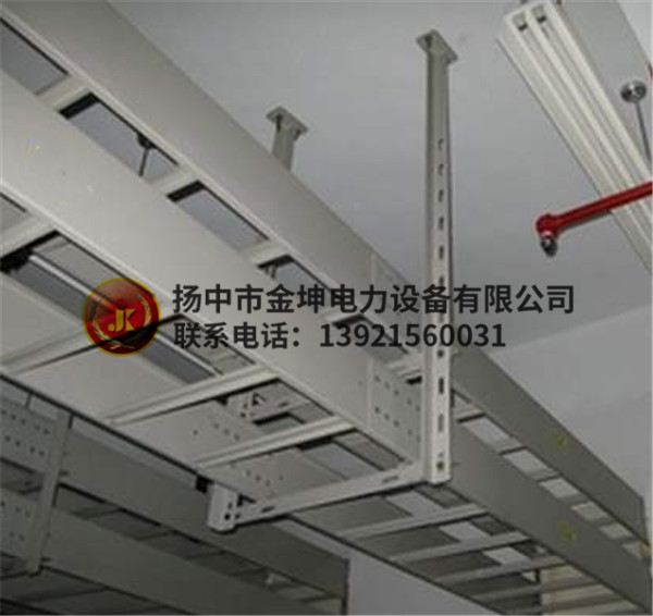 安装中的梯式桥架
